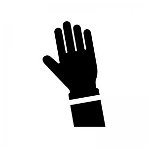 挙手アイコン